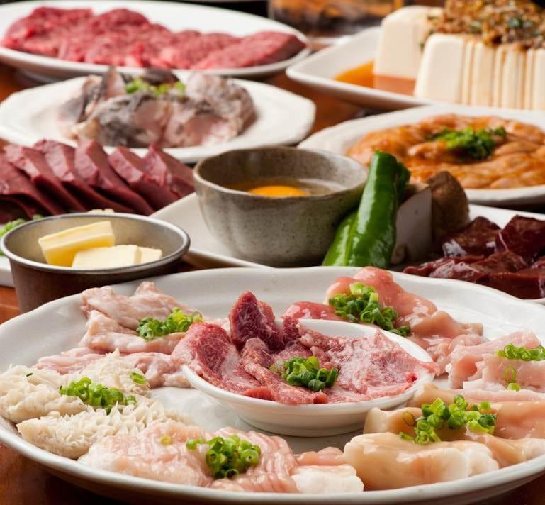 【2時間飲み放題付】4,000円コース <全6品>牛・豚5点盛り お手軽焼肉宴会