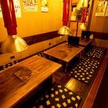 ◆12名様掘りごたつ席 2名~4名様でもOKのゆったりとしたお席
