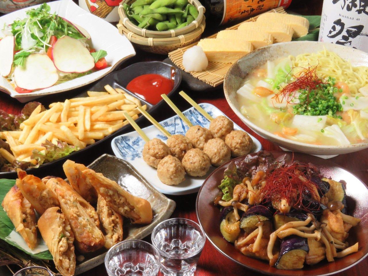 3500円料理8品+飲み放題120分コース