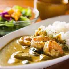 タイ風海老のココナッツカレー
