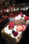 デコレーションケーキ    (メッセージプレートつきです)