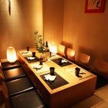 和でモダンなゆったりとした個室空間。多彩な個室をご用意♪