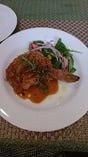 骨付き鶏モモ肉ロティ ビネガーソース