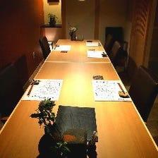 お席は完全予約制の全席個室です。