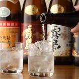 日本全国から厳選した焼酎も豊富に