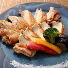 比内地鶏の豪華塩焼き