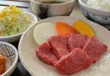 和牛赤身肉定食