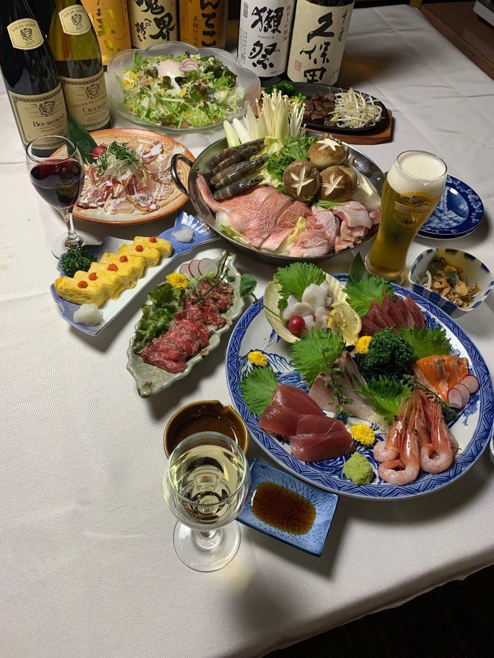 【2.5時間ゴールド飲み放題付き】お肉もお魚もお楽しみいただける全8品「竹コース」6300→5000円