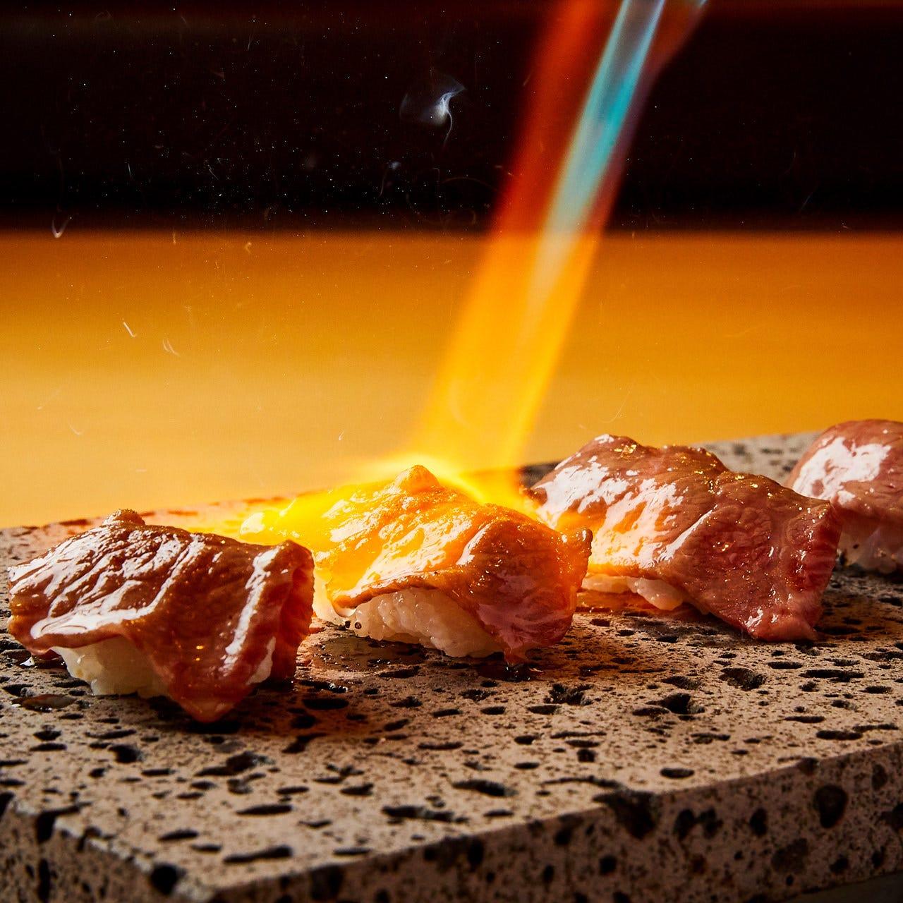 和牛肉寿司を筆頭に上質な和牛ご用意