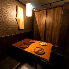 各種宴会に♪和の照明が包む完全個室