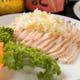 定番の中国の前菜「白斬鶏」です。お酒に最適