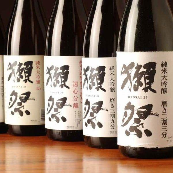 全国各地の日本酒とワインが充実
