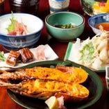 料理9品+伊勢海老ウニ焼き季節限定コース