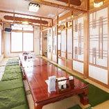 清潔感のある座敷席はご宴会に最適な空間です。
