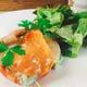 旬魚介のトマトファルシ、柑橘ゼリー