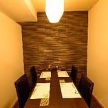 【2~4名様まで/テーブル席】大人のプライベート空間・接待や特別な日のお食事に