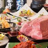 黒毛和牛や選りすぐりの地元食材を贅沢に楽しめるコースをご用意