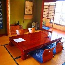 接待にも利用可能、霞ヶ浦を臨む個室