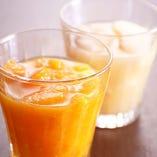 充実の果実酒は女性に大人気。飲み放題でもお愉しみいただけます。