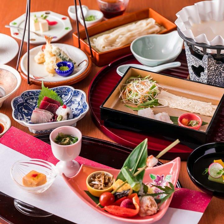 上品な京料理を多彩なコースで堪能