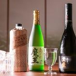 「魔王」や「黒龍」など希少銘酒を多種取り揃えております。