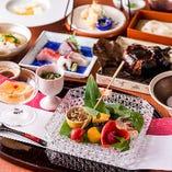 見た目にも美しい、色鮮やかで繊細な京料理をお愉しみください。