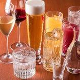 コースをご利用のお客様は、飲み放題プランをご利用いただけます。ビールからワイン、カクテルまで幅広く取り揃えております。ぜひご利用ください。