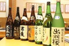 【東北を中心とした地酒を常時20種】