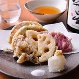 4種の野菜天ぷら