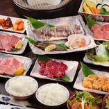 当店の必食メニューが並ぶお得な飲み放題付コース5000円ご用意!