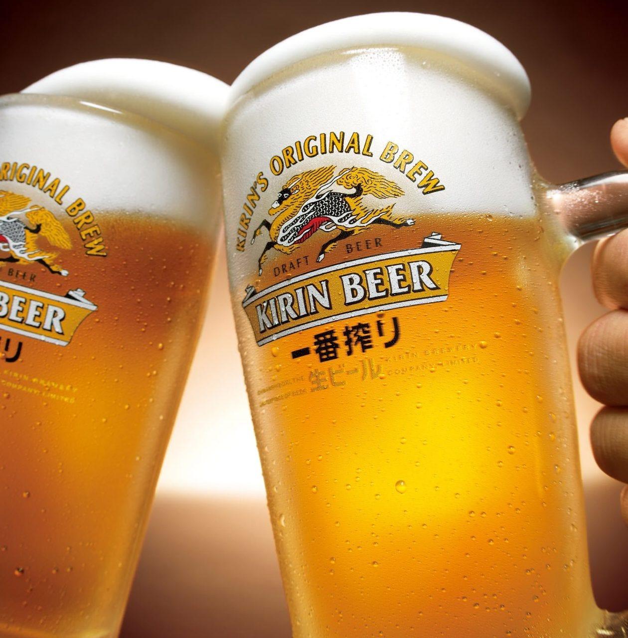 ビールはキリン一番搾り 生♪♪