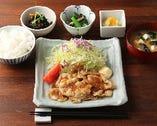 寅福の和風 豚の生姜焼き定食