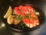 タラバ蟹のステーキ~ホタテバターを添えて