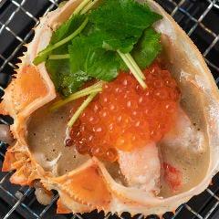 ◆蟹とイクラの贅沢甲羅焼き