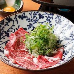◆~鉄板で食べる~国産牛のレアすき焼き ~ゆずたまにつけて~