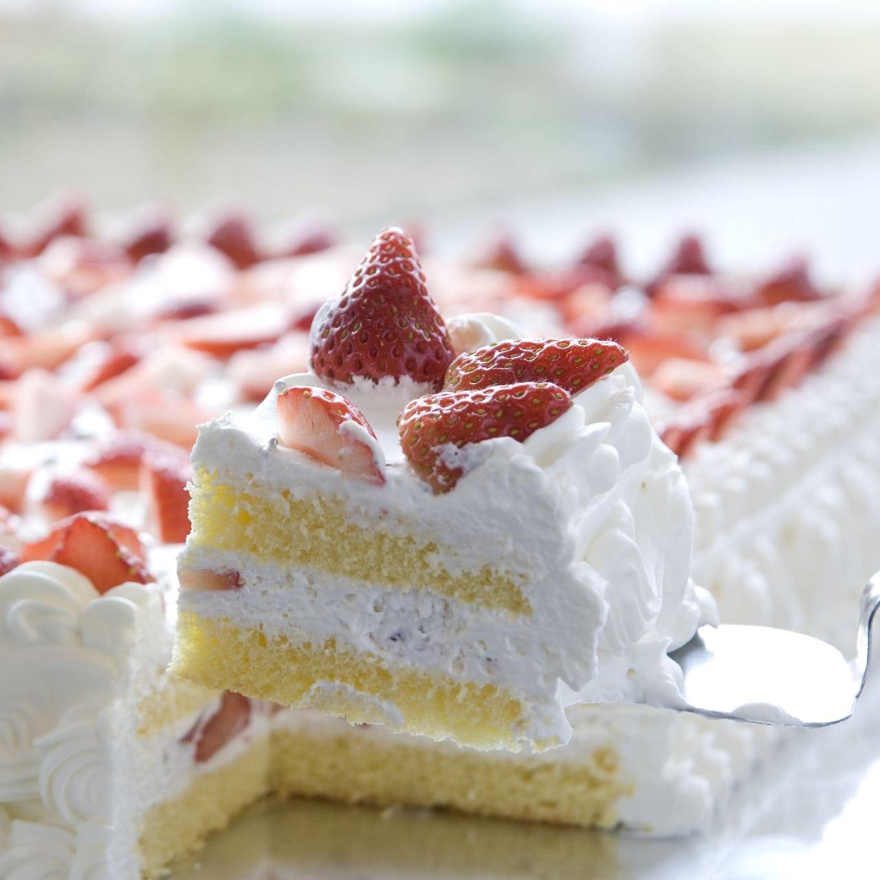 当店人気No.1ジャンボショートケーキ
