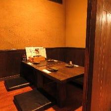 扉で仕切られたお座敷の完全個室