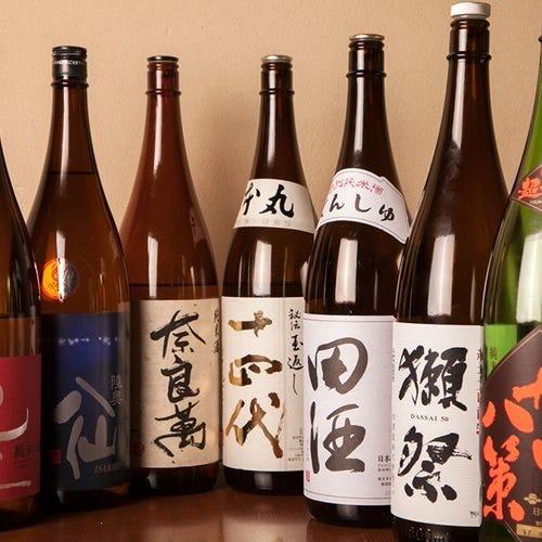 厳選したこだわりの日本酒
