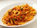 スパゲッティ ツナ・きのこのトマト味 or 塩味