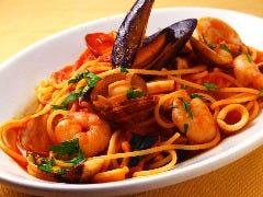 スパゲッティ ぺスカトーラ トマト味 or 塩味