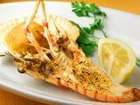 手長海老(2尾)と帆立貝(2枚)のシチリア風オーブン焼