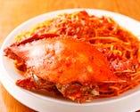 丸ごと渡り蟹のスパゲッティ(2人前)