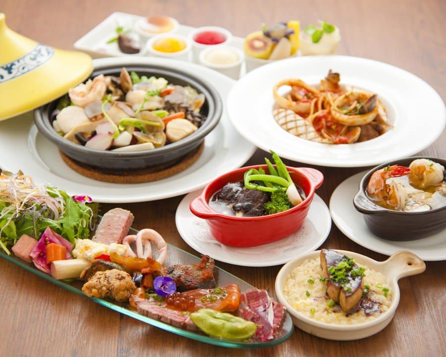 色鮮やかな前菜も魅力的な カラーズの宴会プラン