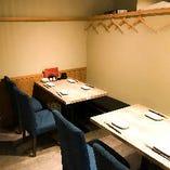 花畑町駅より徒歩3分!半個室風のお席もございます。