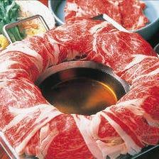ロース牛 or 豚肉 なべやの鍋 食べ放題