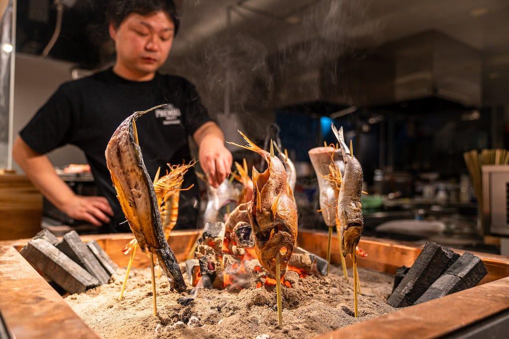 贅沢を極めた炉端肉串