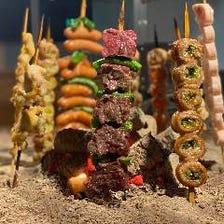 肉炉端BBQ串食べ放題はじめました♪