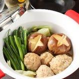 寒い冬には鶏鍋がおすすめ!鶏肉団子は手作りです♪