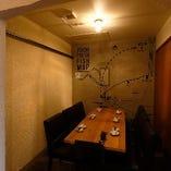 2名様よりご利用可能な半個室はご家族でのお食事やお祝いにも◎