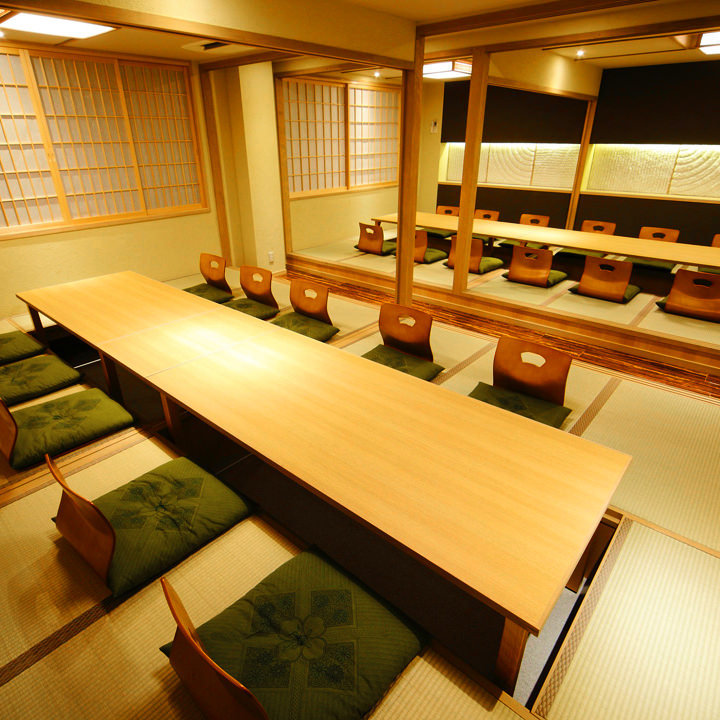 最大25名様まで対応する大型個室